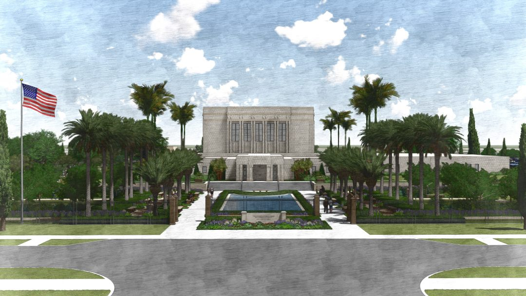 Rendering of the Temple West Entry