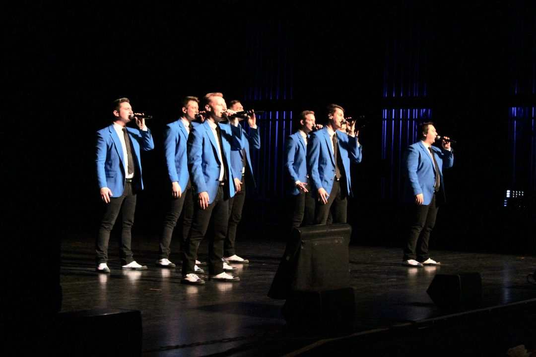 BYU Vocal Point On Stage. Photo by The Arizona Beehive