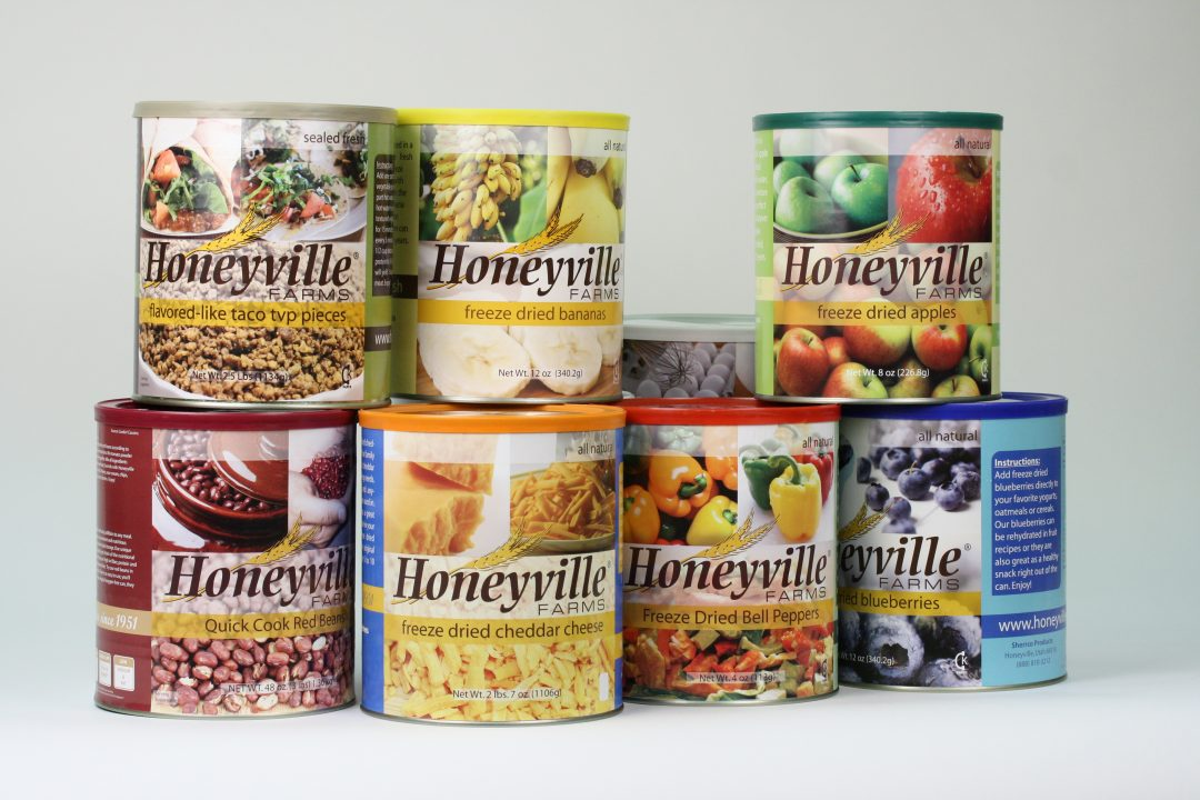 A sampling of Honeyville's wide variety of food products. Photo courtesy of Honeyville, Inc.