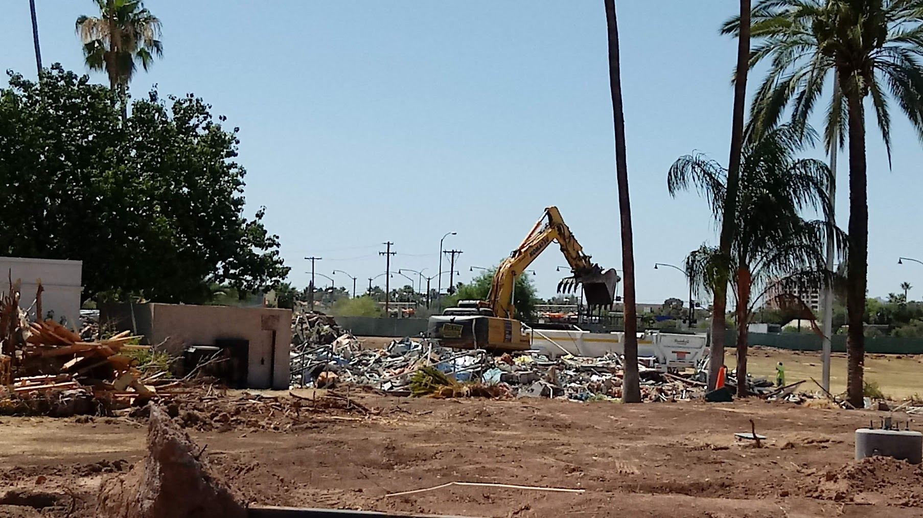 Mesa Temple Renovation Under Way: Visitors Center Demolished