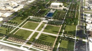 Rendition of the Mesa Temple grounds after renovation. Photo courtesy Church of Jesus Christ of Latter-day Saints Public Affairs