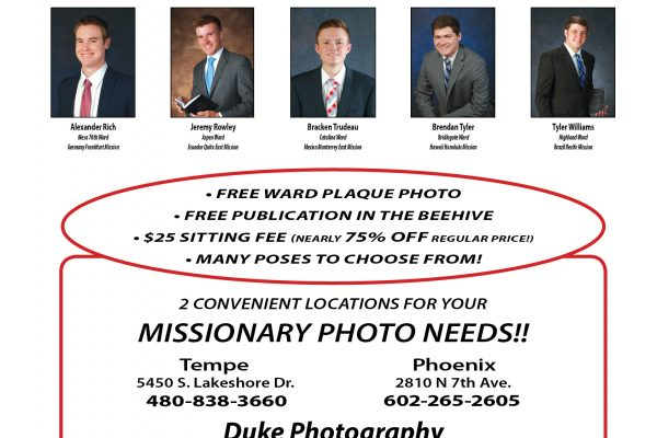 August September 2018 Missionary Page