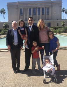 Senator McCain with the Sanchez Family. Photo courtesy of The Sanchez Family.