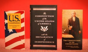 Pocket-size copies of the Constitution can be found online and at some bookstores for no more than a few dollars. Photo by Robin Finlinson.