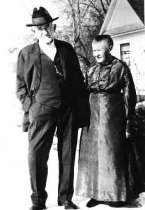 Hyrum Smith Phelps and wife Hyrum Smith Phelps, captain of the 2nd company of pioneers to settle in Mesa, married Clarinda Bingham (not shown) and later took her sister, Elizabeth (right), as his second wife. Photo courtesy Stephen Phelps