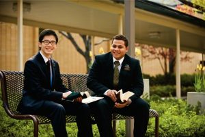 Your missionary's companion is at once friend, coworker, roommate and more. Keep them in mind when sending packages. Photo by LDS Media Library