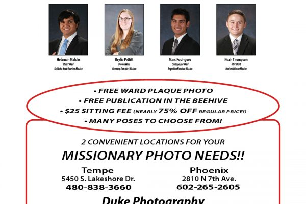October November 2018 Missionary Page
