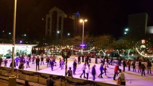 Downtown Mesa Outdoor Ice Rink. Photo courtesy of DownTownMesa.com