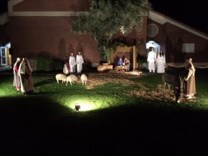 A creche exhibit and music from local choirs set the tone for a casual come-and-go event that welcomes neighbors and Church members alike at the annual community event sponsored by the Tempe West Stake.   Photo courtesy Lindsey Worthen