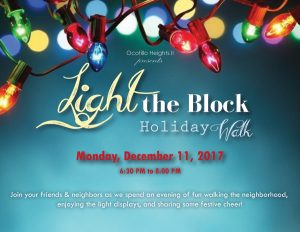 """Light the Block. Many Arizona members of the Church of Jesus Christ of Latter-day Saints have a tradition of planning events, such as last year's """"Light the Block Holiday Walk,"""" planned by Kori Littler, to share the spirit of Christmas with family and neighbors.   Photo courtesy Kori Littler"""