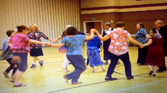 A group dances the Hava Nagila, a traditional Jewish dance. Photo courtesy of Valerie Steimle.
