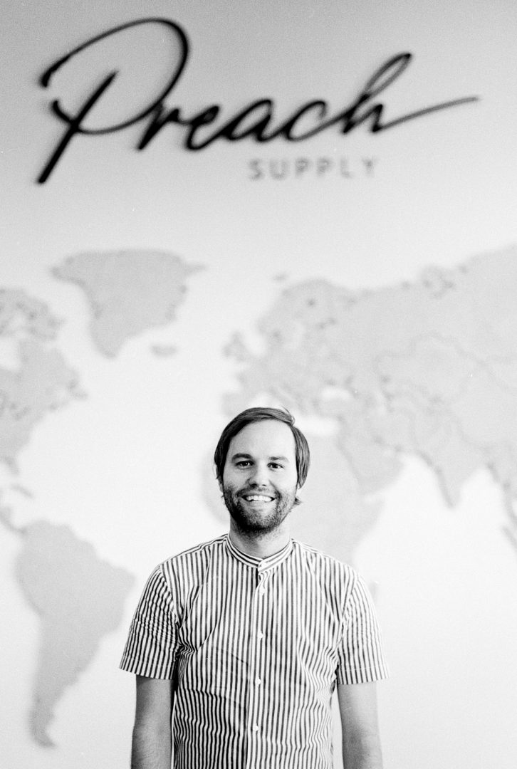 Founder, Sam Jones. Photo courtesy of Preach Supply