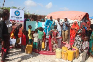 Residents in Somalia are grateful for their new water well from HHRD in 2017. Photo courtesy of Gul Siddiqi
