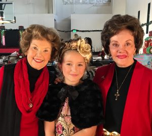 Rosevelt with Childhelp Founders Yvonne Fedderson (left) and Sara O'Meara (right) at Childhelp's Merv Griffin Christmas Performance. Photo courtesy of Sherrie Nattrass