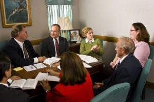 The ward council develops a ward temple and family history plan under the direction of the bishop. Photo courtesy of lds.org Media Library