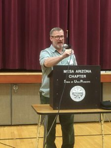 Matt Wharton serves as current president of the Arizona Chapter of the Sons of Utah Pioneers organization. Photo courtesy of Harvey Zilm